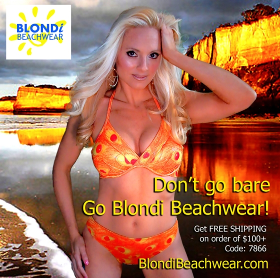 ladies swimwear and bikinis.