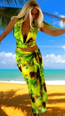 Hawaiian-Green-halter-pareo