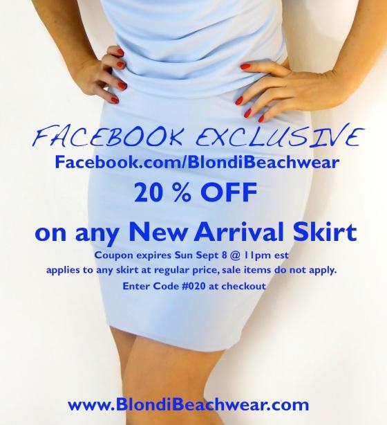Facebook_exclusive_20%off skirt sale