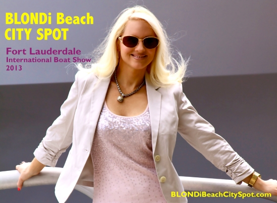 Blondibeach City Spot international boat show fort lauderdale 2013