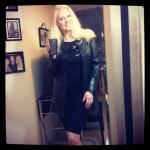 Black leather jacket fashion