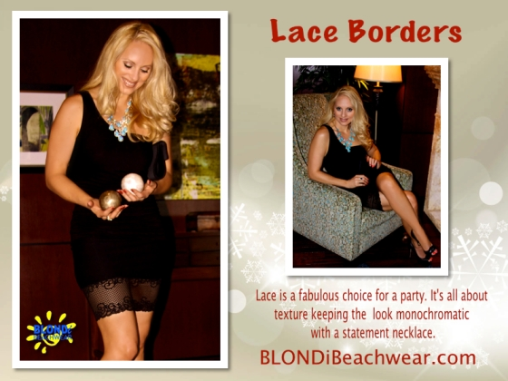 Black lace border skirts holiday looks