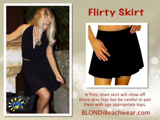 Flirty sexy black skirts