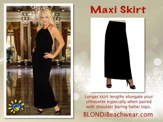 Maxi jersey skirt