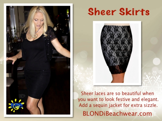 Sheer lace Skirts