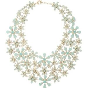 bcbg flower statement necklace