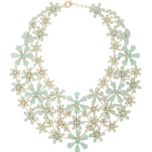 bcbg flower statement necklace