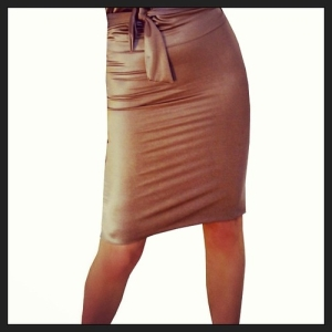 cinnamon pencil skirt