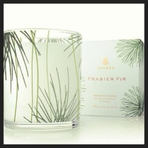 Frasier fir thymes holiday candle
