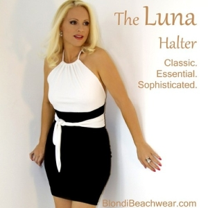 luna halter top black skirt