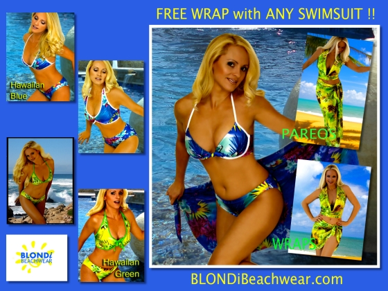Hawaiian swimsuit promotion