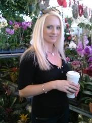 Sunday Latte among the flowers