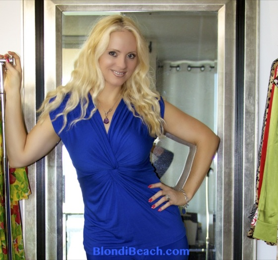 Blondi Couture Blue Casual Top