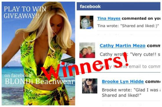 facebook giveaway winners blondi beachwear