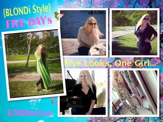 Blondi Style Five Looks On Girl