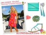 Blondi Style Coral Turquoise Resortwear Lookbook