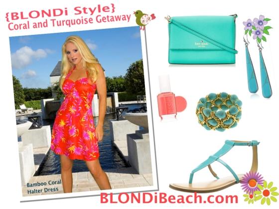 Blondi Style Coral Turquoise Resortwear Lookbook