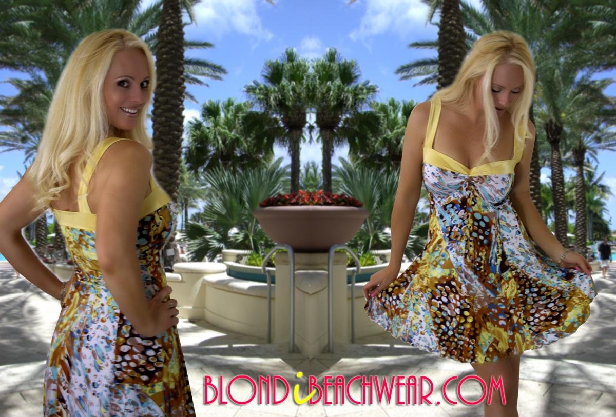 {New Arrival} Maimi Rain Twist Front Print Sundress