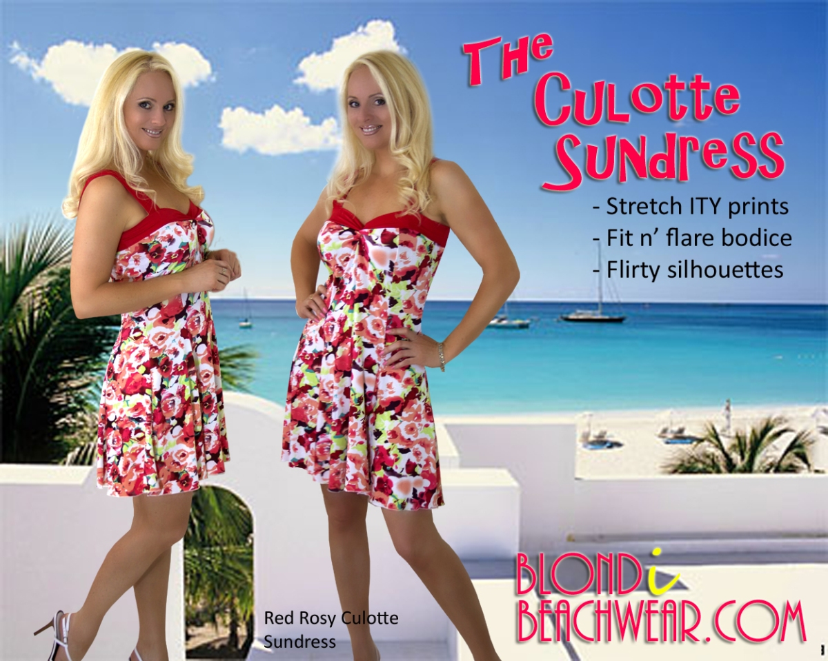 {New Arrival} Red Rosy Culotte Sundress