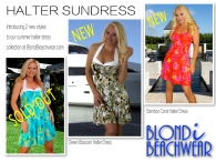 Summer Print halter Sundresses