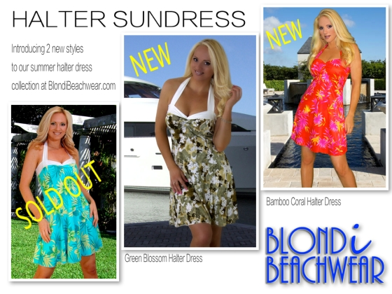 Summer Print halter Sundresses
