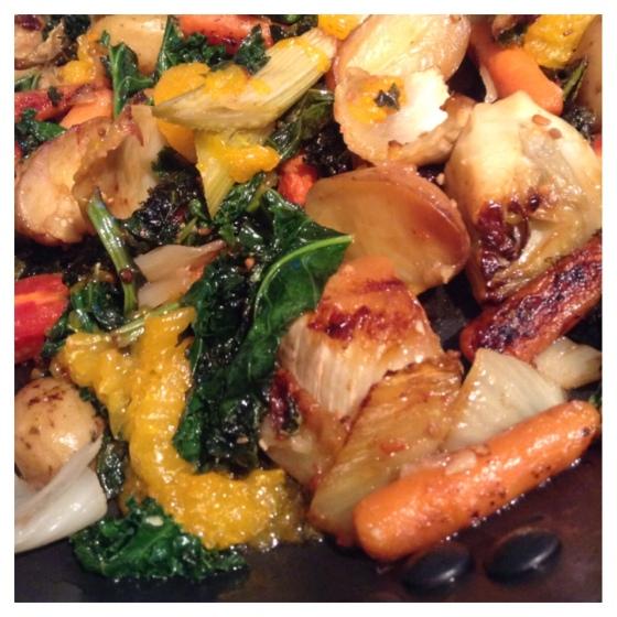 Healthy Grilled kale vegetable recipe