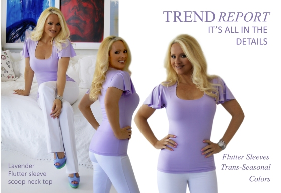 {Blondi Style} Tran-Seasonal Lavender Flutter Sleeve Casual Top & Colorful Platforms