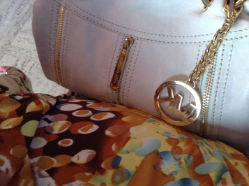 My Michael kors bag goes with everything. lol