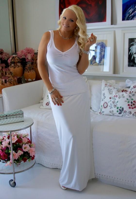 White glitter top skirt B