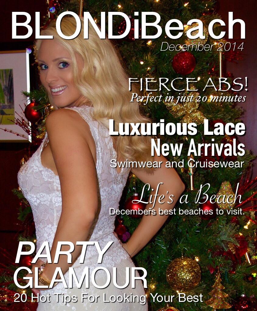 BLONDi beach December cover shoot