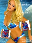 Hawaiian Blue trikini twist coverup 3 piece set